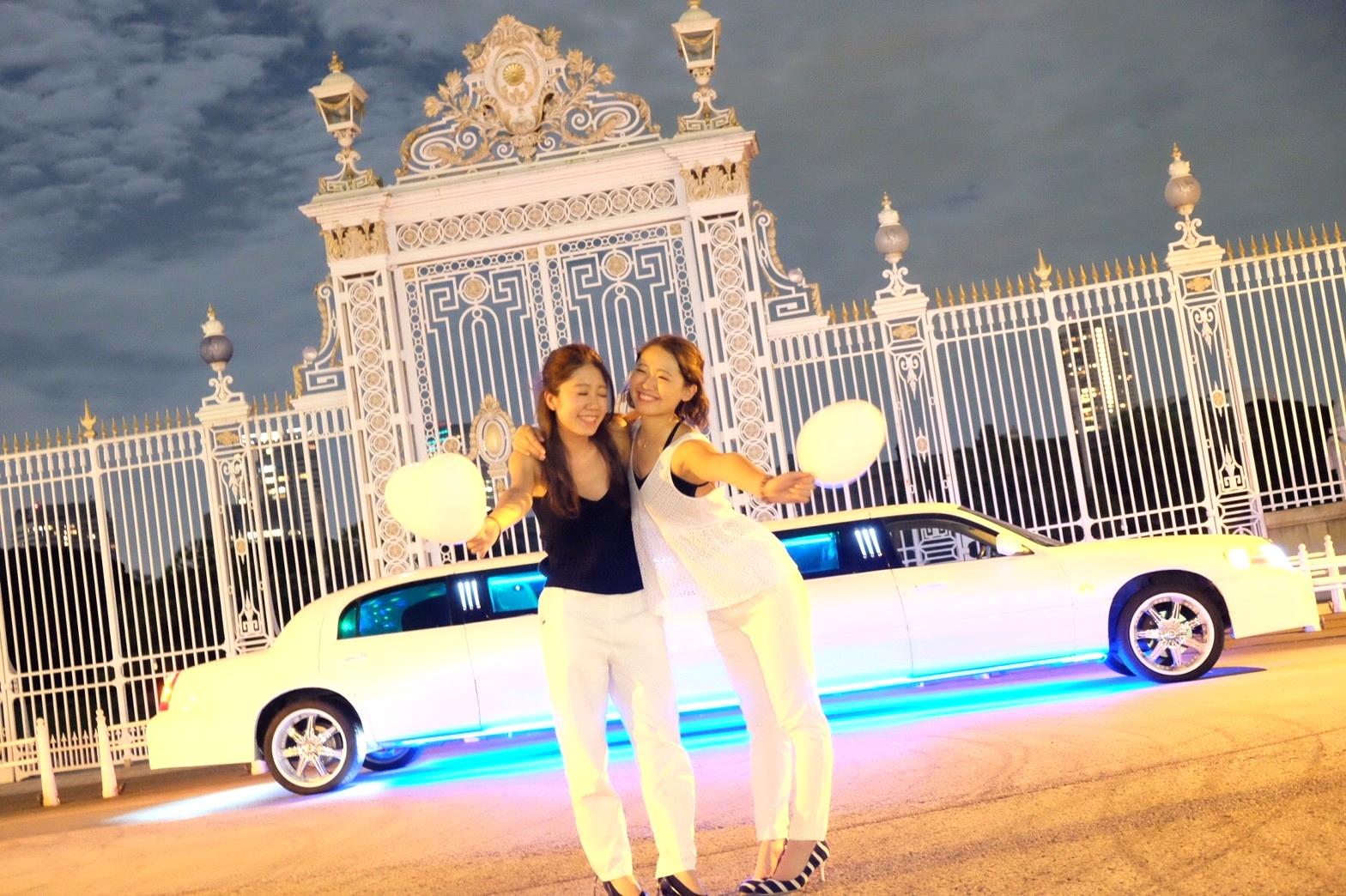 リムジンパーティー東京赤坂迎賓館撮影